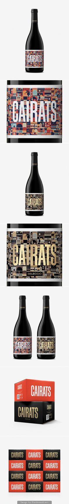 Cairats #wine #packaging by Dorian - http://www.packagingoftheworld.com/2014/10/cairats.html