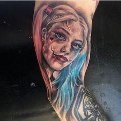 Photo by (inkedmag) on Instagram   #tattoo #portraittattoo #realismtattoo #fantasytattoo #harleyquinn #harleyquinntattoo #margotrobbie #addictivetattoo #malibubudd #eikondevice #stencilstuff #fusionink #silverbackink #silverbackinstablack10shadegraywashseries #cheyennepen #cheyenneprofessionaltattooequipment #ontariotattoos #canadatattoo #thebesttattooartists #tattoosociety #inkig #tattoochallenge #tattoosocial #inkfreakz #crazytattoos #FORMink #inkedmagazine #tattooartistmag #tattoolife Weird Tattoos, Life Tattoos, Canada Tattoo, Harley Quinn Tattoo, Fantasy Tattoos, Fusion Ink, Inked Magazine, Realism Tattoo