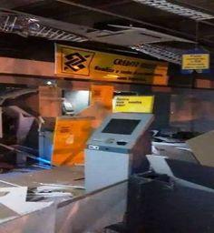 Bandidos explodem caixa eletrônicos do Banco do Brasil em Rondon