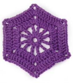 Crochet Motif VII:  Hexagon Wheel Motif    http://www.lionbrand.com/patterns/60148.html?noImages=