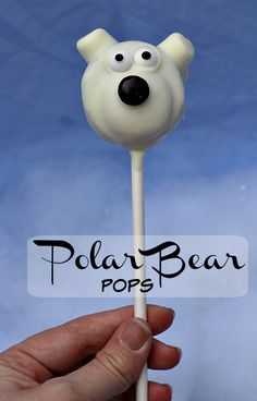 These fun yet simple to make polar bear pops are perfect for your little Norm of the North fan!