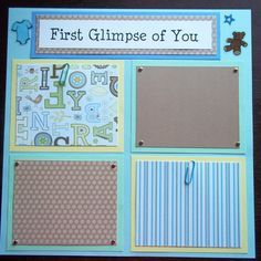 Set of 30 12x12 Premade Scrapbook Pages Baby Boy's by scrappyjo, $165.00