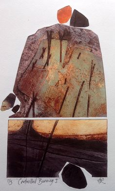 Anita Reynolds is a painter and Printmaker based in Devon. She is a member of the Devon Guild of Craftsmen, exhibits widely and runs courses and workshops. Abstract Landscape Painting, Landscape Art, Landscape Paintings, Landscapes, Tree Paintings, Abstract Paintings, Collagraph Printmaking, Inuit Art, Abstract Shapes