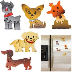 Dog Puzzle Magnet at The Animal Rescue Site