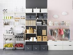 Want some super fun and quirky IKEA KALLAX hacks that are downright amazing? Ikea Algot, Ikea Kallax Hack, Best Ikea, Montage, Locker Storage, Shelves, Cabinet, Interior Design, Closet