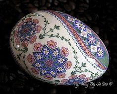 Nfac Ring Around The Rosie Pysanka Pysanky Ukrainian Easter Egg Batik EBSQ Sojeo | eBay