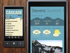 Cascade skier dribbble / Ski App for WP7
