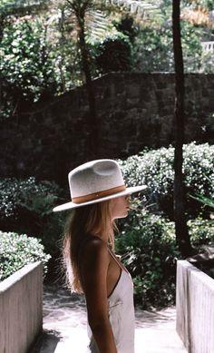 hats and slip dresses