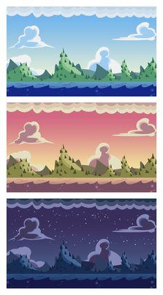 Mountain Background by Gabriela-Birchal