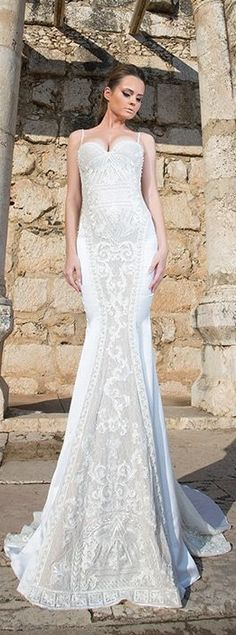 Shabi & Israel Haute Couture 2015 Wedding Dressses - Belle The Magazine Island Wedding Dresses, Chic Wedding Dresses, Wedding Dressses, Amazing Wedding Dress, Formal Dresses For Weddings, Wedding Attire, Bridal Dresses, Wedding Gowns, Flower Girl Dresses