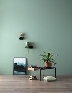 Schöner Wohnen Wandfarbe Designfarbe (Erhabenes Agavengrün, l, Feinmatt) Bauhaus, Office Interior Design, Office Interiors, Light Green Walls, Color Verde Claro, White Carpet, Elegant Homes, Cool Walls, Paint Designs