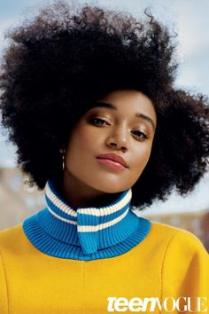 Amandla Stenberg lands her first Teen Vogue cover for the magazine's February 2016 issue by Ben Toms [cover]