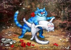 dancing with the stars blue cats ~ Irina Zeniuk