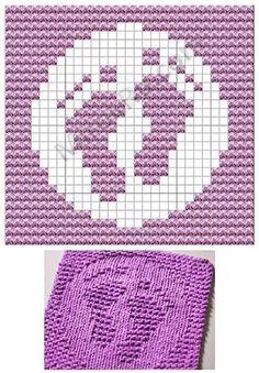 footprint dish cloths pattern