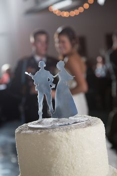 military wedding/cake topper