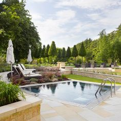 Lucknam Park spa pool and gardens - Find this and more of the best Spas at Red Online.