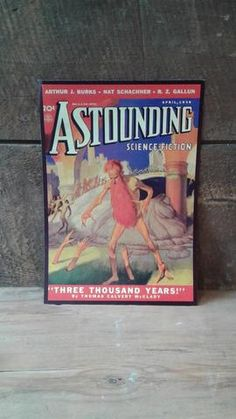Couverture science fiction | Astounding Science-Fiction | Three Thousand Years | 6.75 x 10