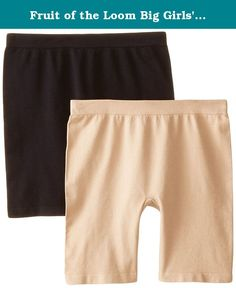 Fruit of the Loom Big Girls' Seamless Underskirt Panty, Black/Sand, X-Large(Pack of 2). Let your little girl play without worrying about her showing too much under her skirt or dress. This Fruit of the Loom girls' seamless under-skirt short is long in the legs so it doesn't look like a panty but still soft and comfortable to wear all day. Available in multiple colors to match with any outfit! Give the girl in your life a good start with Fruit of the Loom. Designed to give her support…