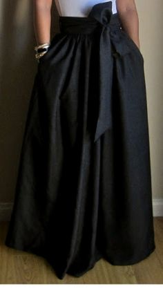 Handmade Maxi Long Skirt with Sash Now in Yellow or by Breauxs