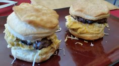 Just a picture post today, I made a biscuit breakfast sandwich with a sausage patty, scrambled eggs, and cheese.