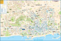 Marbella tourist map