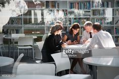 Stock Photo : Businesspeople in office meeting