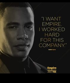 Does Andre have what it takes to run Empire Entertainment? Empire Memes, Empire Quotes, Serie Empire, Empire Fox, Lucious Lyon, I Dont Fit In, Empire Records, Empire Season