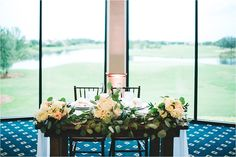 sweetheart table during wedding reception at eagle creek
