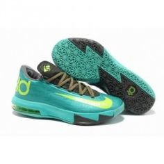 finest selection 79f52 65b6e Authentic Mint Green Grey Volt Nike Zoom KD 6 For Wholesale. Nike  Basketball ShoesKevin Durant ...