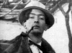 Young Salvador Dali in his Academy days.