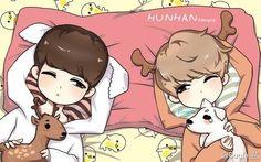 #Hunhan #exo fanart (source?)