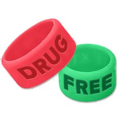 Drug Free Thumb Rings Red Ribbon Week, Thumb Rings, Drug Free, Dog Bowls, Drugs, Band, Products, Sash, Bands