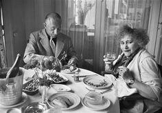Colette et Maurice Goudeket, Deauville (Gisèle Freund, 1954)