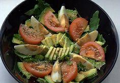Tomato and Avocado Salad Recipe - Looks like a yummy way to use up tomatoes and avocados. #TakeTwoVisorShop #SunVisor