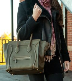 Céline Mini Luggage in Jungle green, a fabulous pre-owned designer bag at a  great price. 8be07b340e