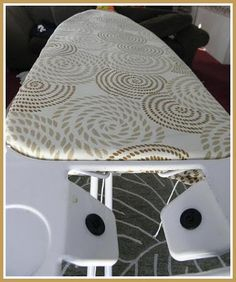 Make your own ironing board cover! Ironing Board Covers, Vanity Bench, Frugal, Make Your Own, Blessings, Sewing Projects, Crafty, Crochet, Fabric