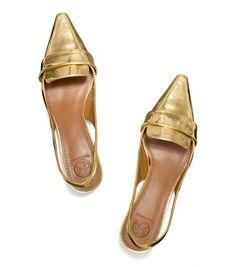 Tory Burch Sadie Metallic Slingback : Women's Flats | Tory Burch