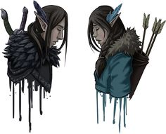 Vax and Vex character art | Critical Role