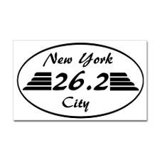 New York marathon 26.2 with wi Decal