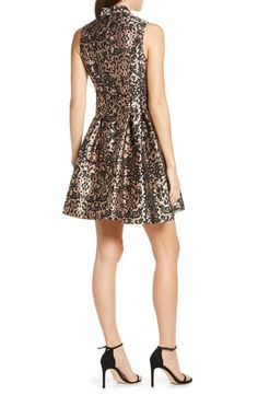 Vince Camuto Fit & Flare Brocade Dress | Nordstrom
