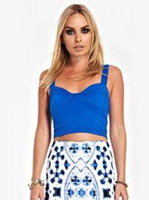 Lana Crop Top - Blue   Ladies Clothing Online   Birdmotel
