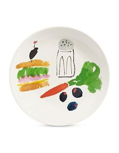 Kate Spade New York Sandwich Art Accent Plate Women's Multi