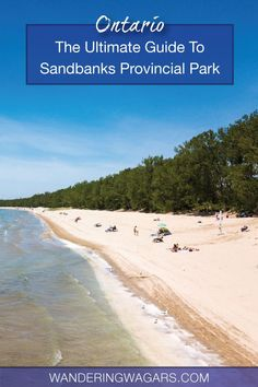 Travel Ontario - Sandbanks Provincial Park has the most popular beaches in Ontario. I put together this ultimate guide to help with your Sandbanks camping adventure. Ontario Camping, Ontario Travel, Beaches In Ontario, Ontario Provincial Parks, Canadian Travel, Canadian Rockies, Ontario Parks, Road Trip, Family Adventure