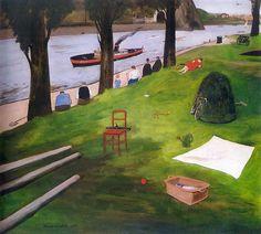 Prague by Group 42 - Kamil Lhoták - On Emperor& Meadow Prague, Modern Art, Golf Courses, Landscape, Illustration, Emperor, Artists, Group, Children