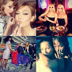 Fashion, Model and Celebrity Friendships - Fashion Instagrams of 2014 - Harper's BAZAAR