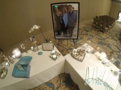 setup when you first come into a Celebration of Life Memorial www.eternallyloved.com