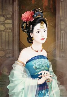 Chinese hanfu painting - ✯ http://www.pinterest.com/PinFantasy/arte-~-la-mujer-en-el-arte-chino-women-in-chinese-/