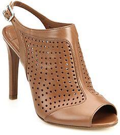 Prada Perforated Leather Bootie Sandals