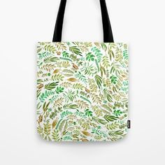 green wave Tote Bag by Franciscomffonseca on Society6 @society6 #society6 #art #bag #fashion #accessories #men #women #style #floral #leaf #nature #pattern #watercolor #green #nature #brown #color #tote #bag #shop #buy #sale #fun #sweet #cool #hip