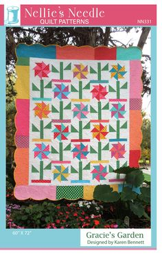 Spinning Spools quilt pattern /& templates Michigan Cherry ~ Quilt /& Block